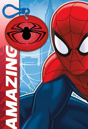 MARVEL'S Spider-Man Celebrating Your Talents Card With Backpack Clip
