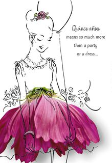 Frills and Thrills Quinceañera Card,