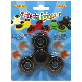Trifecta Fidget Spinner, Assorted Colors, , large