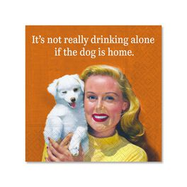 Not Drinking Alone Cocktail Napkins, Pack of 12, , large