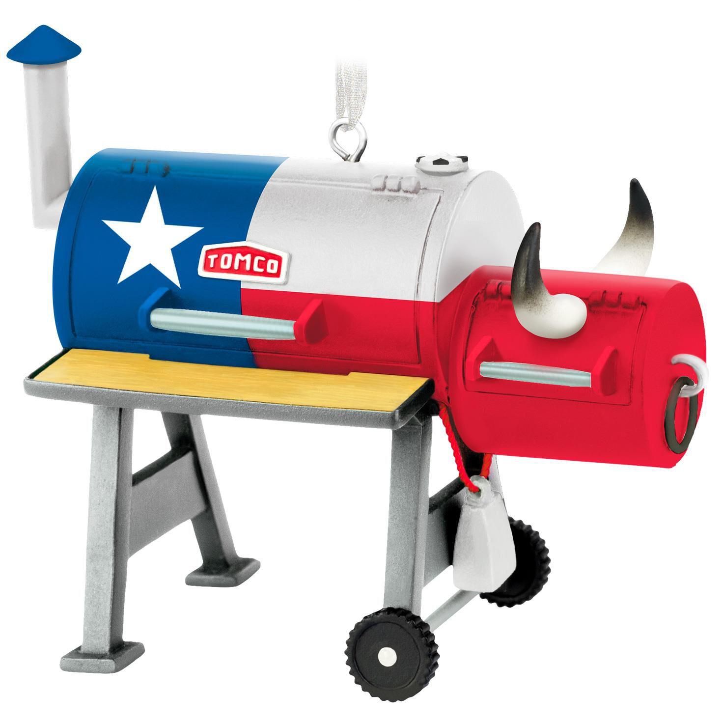 texas bbq grill ornament