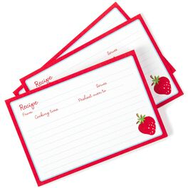 Strawberry Recipe Refill Cards, , large