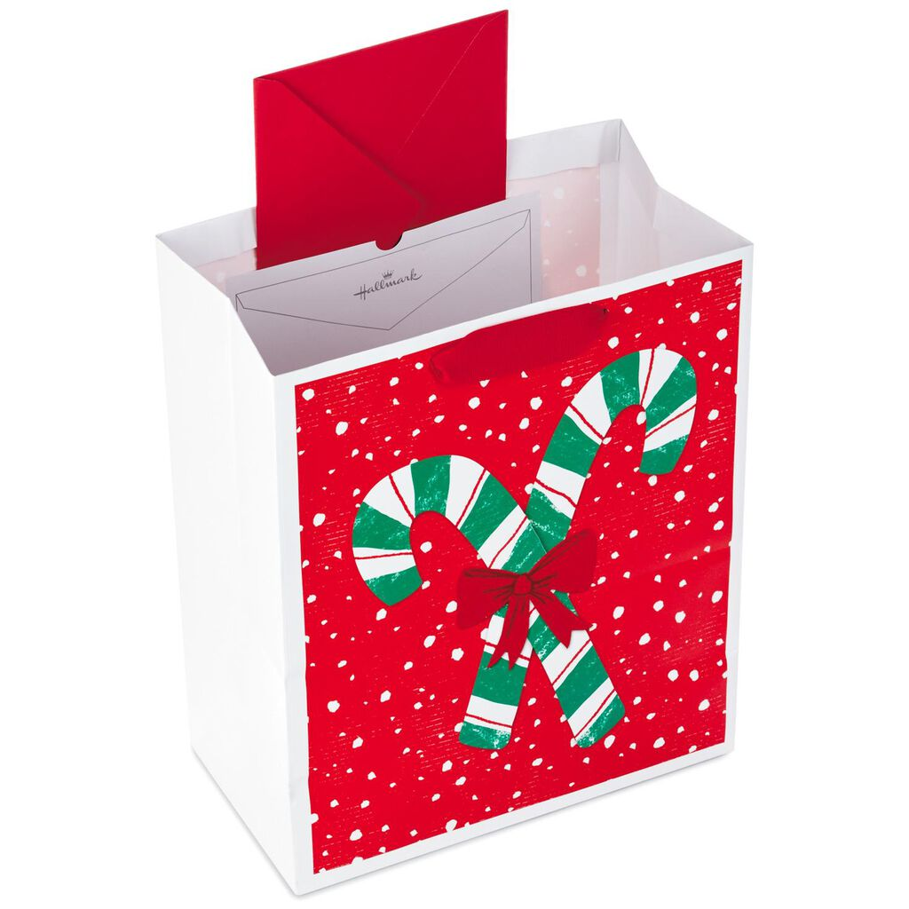 candy canes with bow large christmas gift bag 13