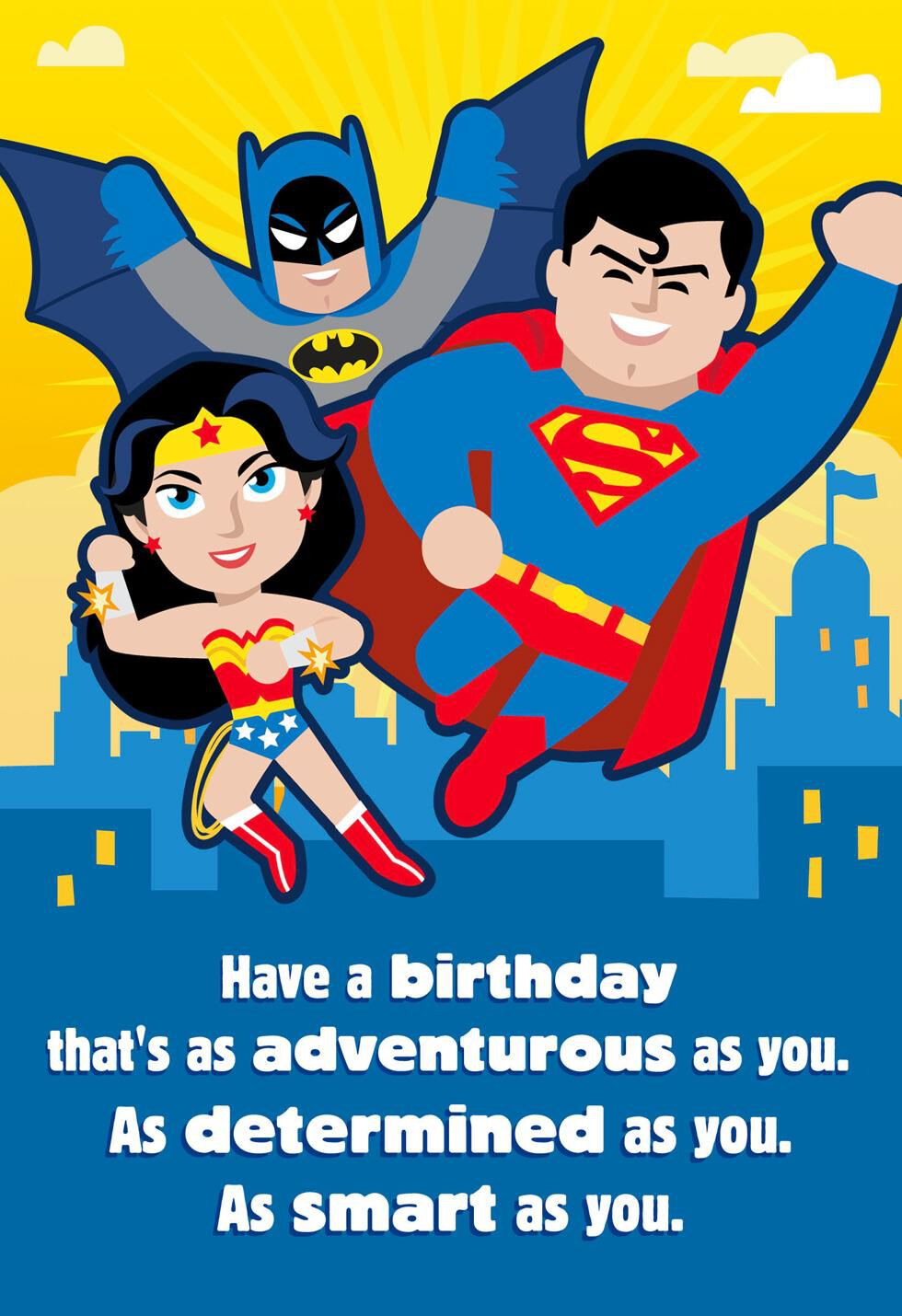 Justice league as adventurous as you musical birthday card justice league as adventurous as you musical birthday card greeting cards hallmark bookmarktalkfo Image collections