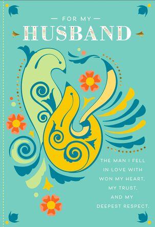Lovebirds Anniversary Card for Husband