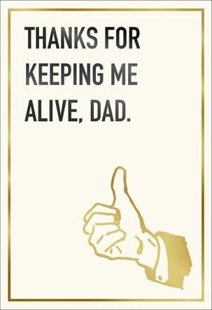 Thumbs Up for Dad Funny Father's Day Card