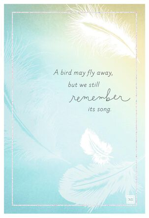 Marjolein Bastin Sunlit Feathers Sympathy Card