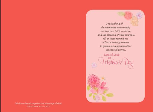 Blessed by Your Example, Grandma Mother's Day Card,