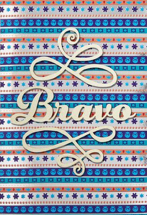 Bravo Spanish Language Congratulations Card