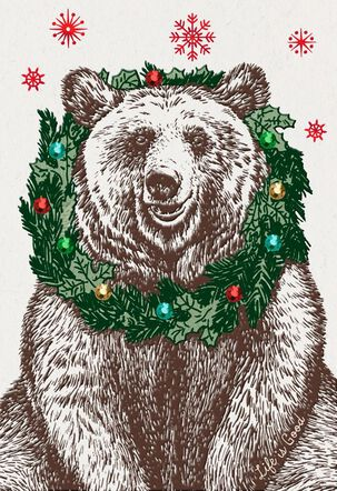 Life is Good® Nice Bear Christmas Card