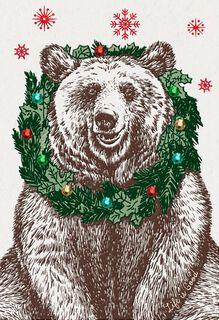 Life is Good® Nice Bear Christmas Card,