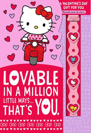 Hello Kitty® Lovable You Valentine's Day Card With Link'emz Wristband