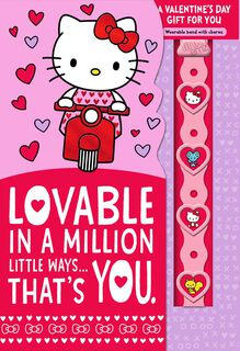 Hello Kitty® Lovable You Valentine's Day Card With Link'emz Wristband,
