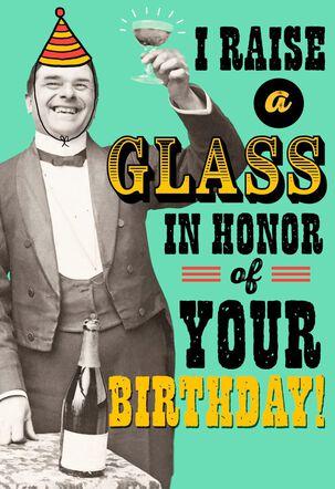 Raise a Glass Musical Birthday Card