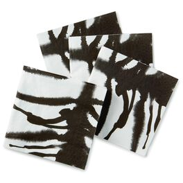 Zebra Stripe Beverage Napkins, Set of 16, , large
