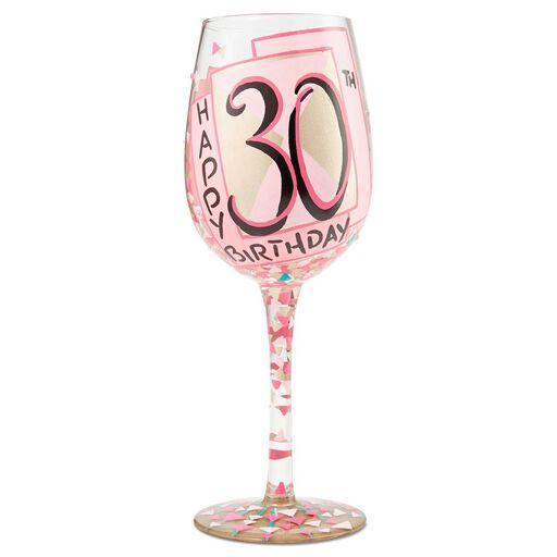 d6e6d0e0ba Lolita® 30th Birthday Handpainted Wine Glass