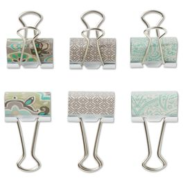 Classic Metal Binder Clips, Set of 6, , large