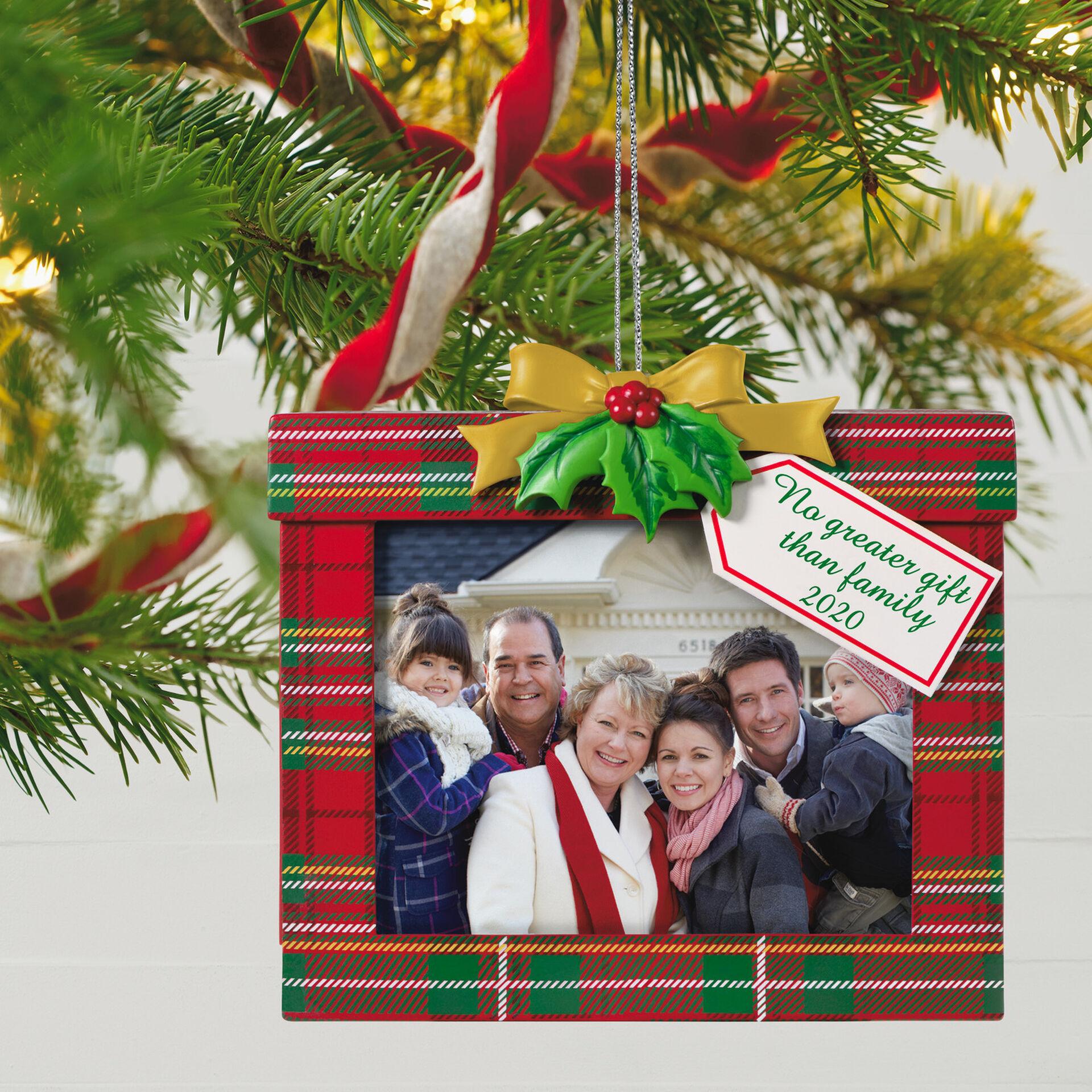 Family's the Greatest Gift 2020 Photo Frame Ornament   Keepsake