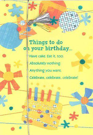 Celebrate Your Way Birthday Card