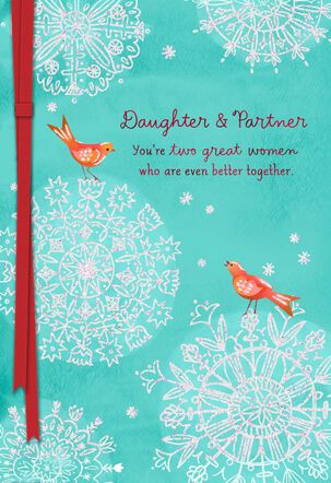 Daughter and Partner Christmas Card