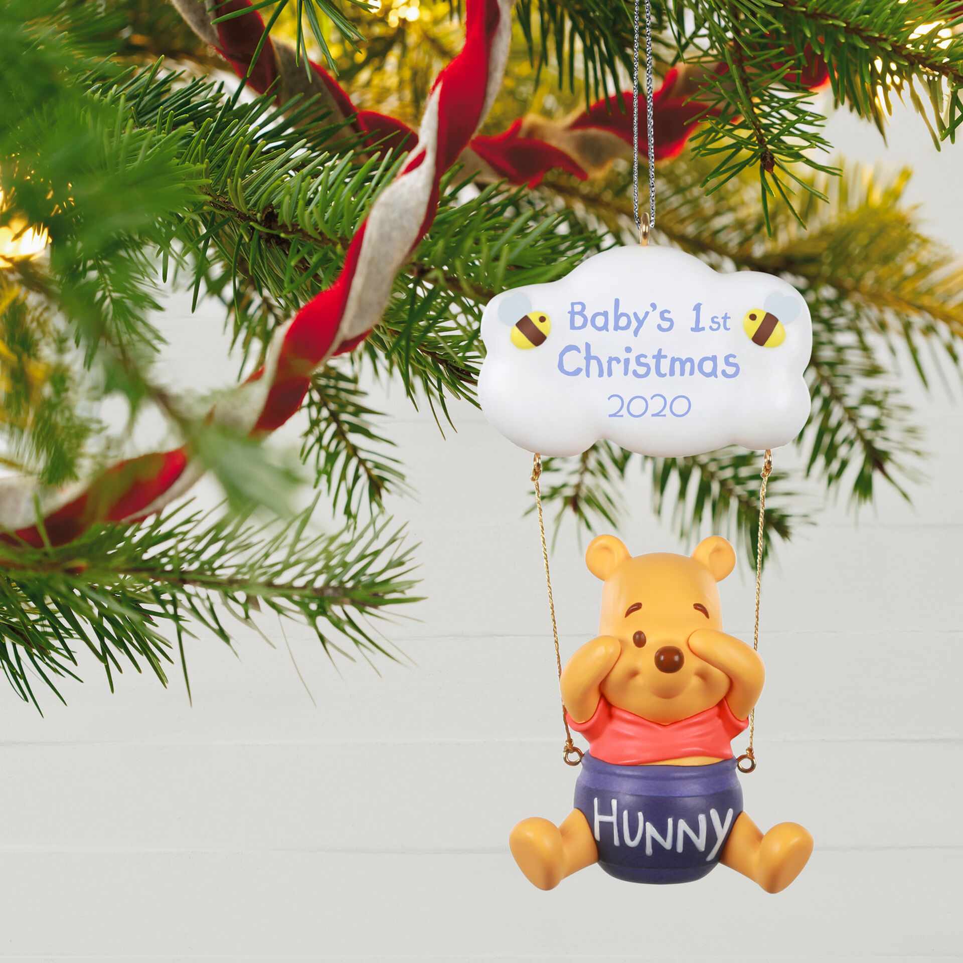 Babys Second Christmas Globe 2020 Disney Winnie the Pooh Baby's First Christmas 2020 Ornament