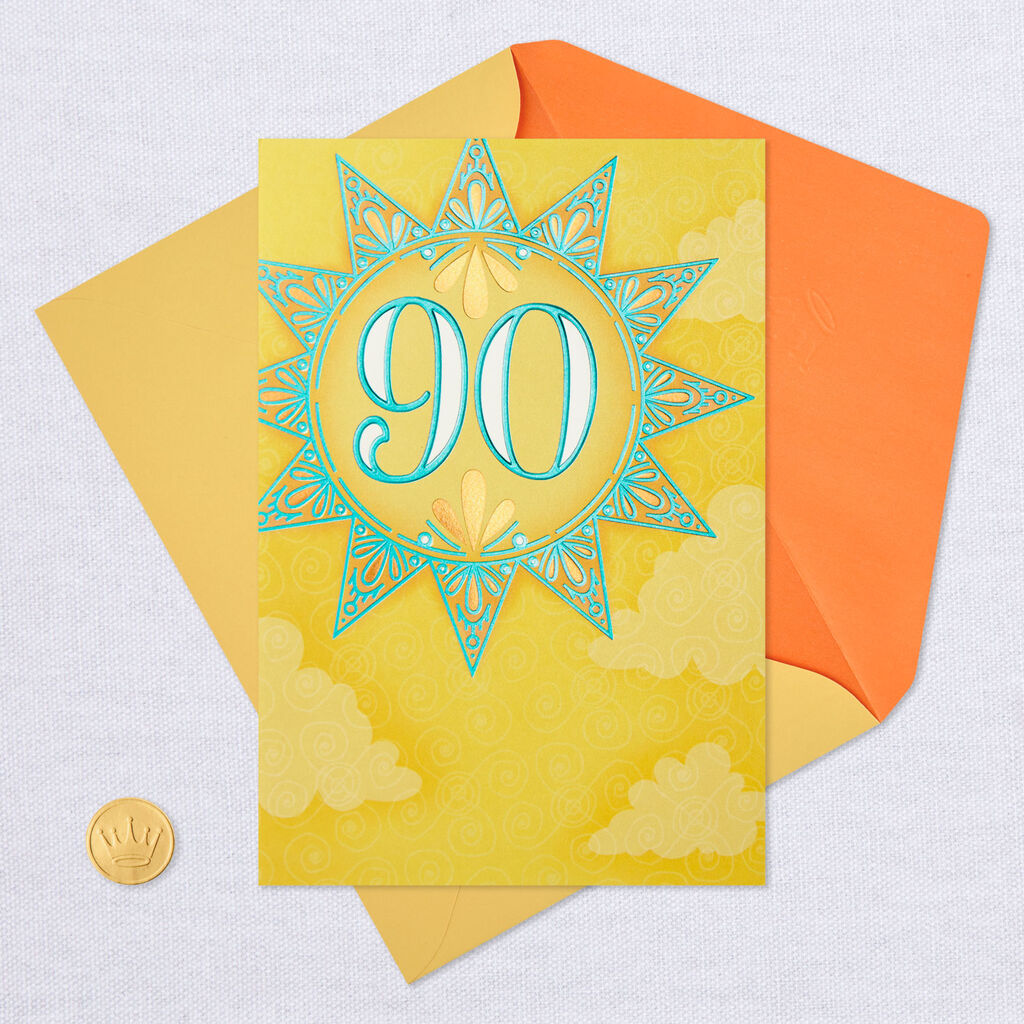 More Laughter 90th Birthday Card