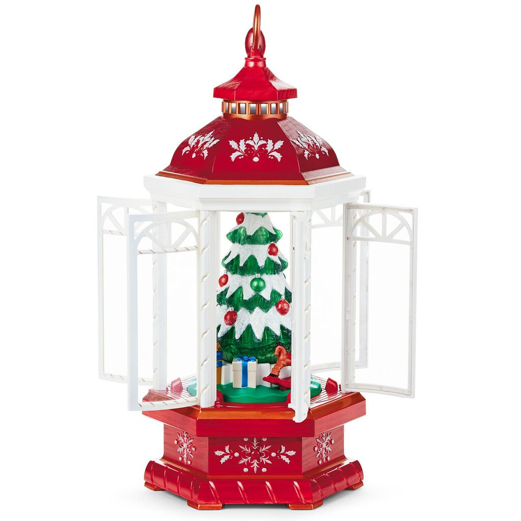 christmas lantern table decoration with light sound and motion