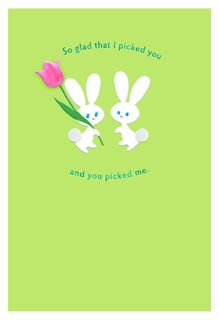 Paper Bunnies Easter Card for Husband,