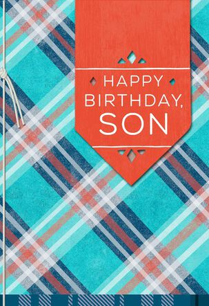 Plaid Birthday Card for Son