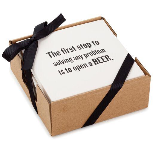 Beer Wisdom Coasters Set Of 4