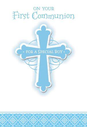 Blue Cross First Communion Card
