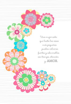 Beautiful Inspiration Spanish-Language Pop-up Mom Birthday Card