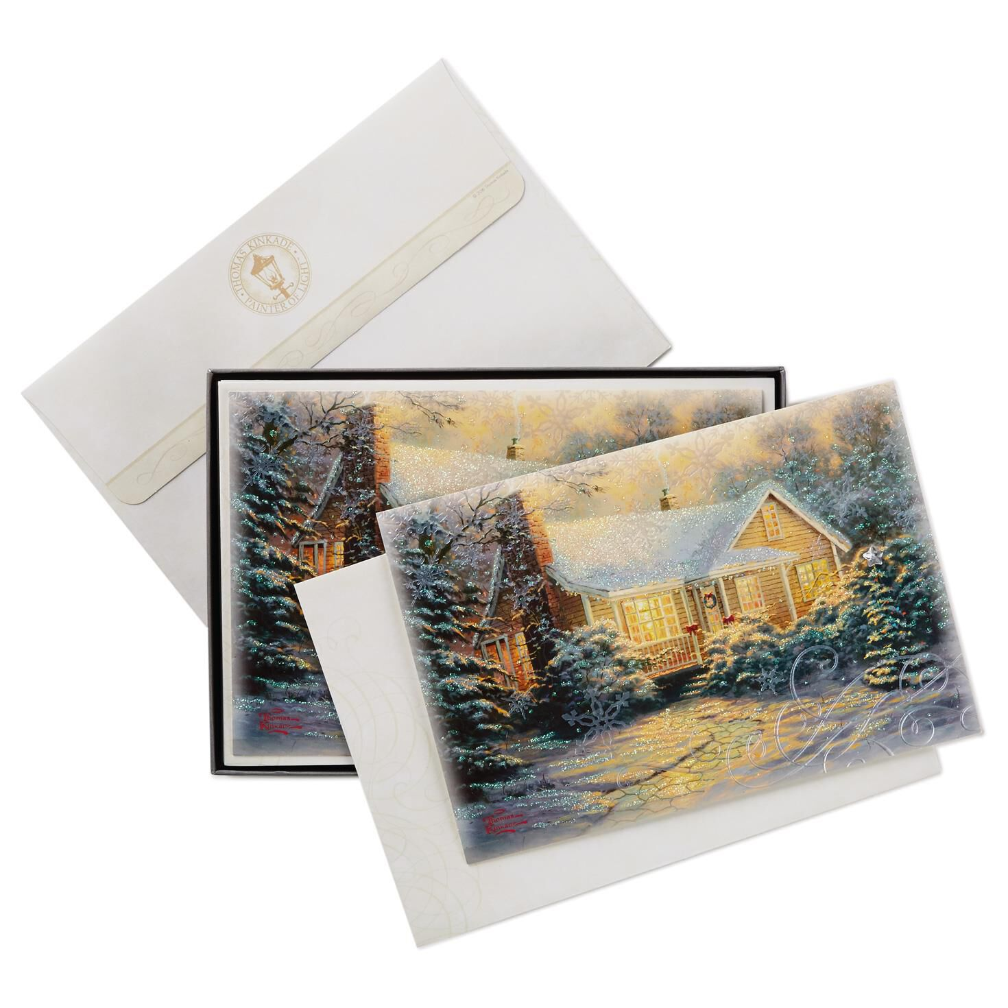Kinkade christmas cottage - Thomas Kinkade Christmas Cottage Christmas Cards Box Of 12 Boxed Cards Hallmark