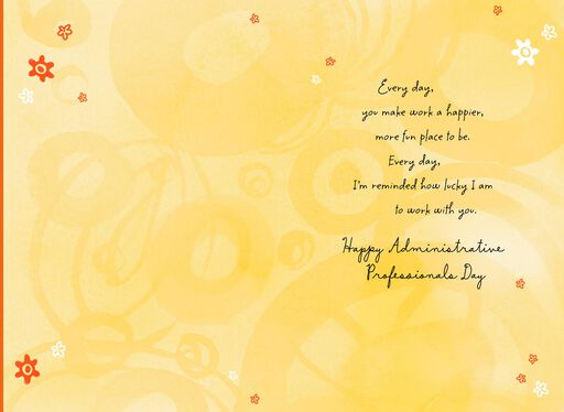 Lucky To Work With You Administrative Professionals Day Card