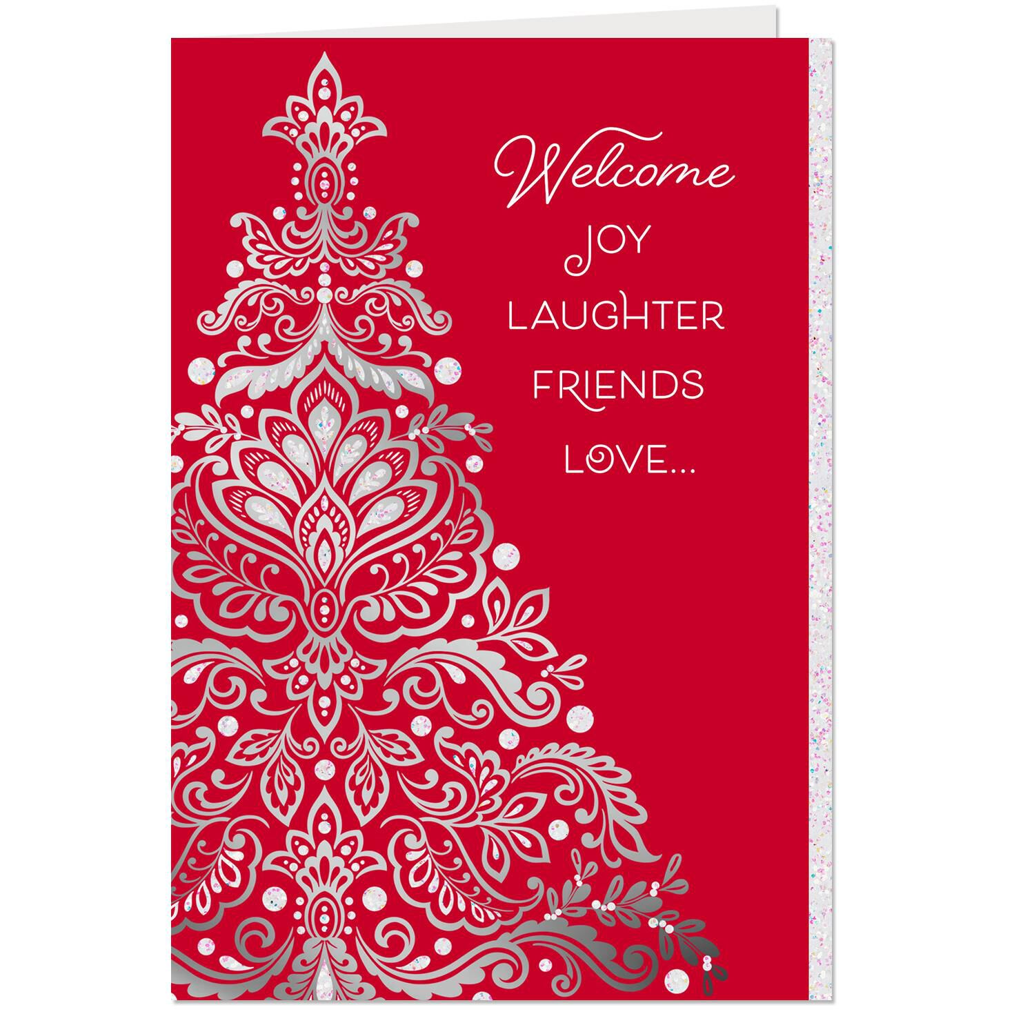 The Season Of Joy Laughter Friends And Love Christmas Card