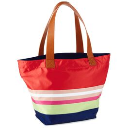 Mark & Hall Colorful Stripe Nylon Tote, , large