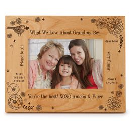 Engraved Messages Personalized 4x6 Wood Picture Frame, , large