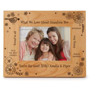 Engraved Messages Personalized 4x6 Wood Picture Frame,
