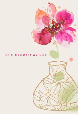 One Beautiful Day Floral Birthday Card