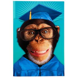 Monkey Pop-Up Sound Graduation Card, , large