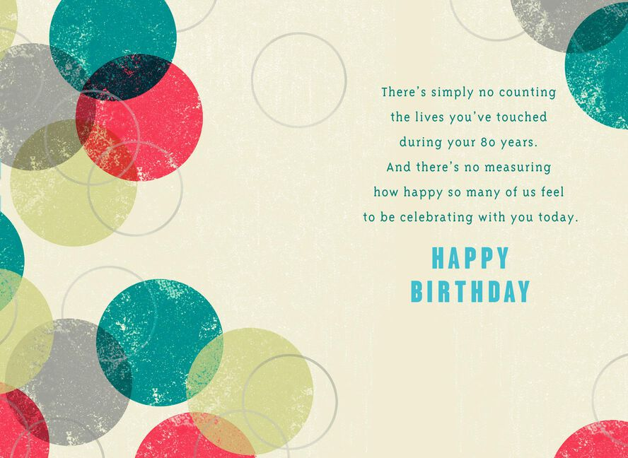 Circles 80th Birthday Card Greeting Cards Hallmark