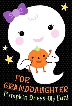 Dress Up Your Pumpkin Halloween Card With Stickers for Granddaughter