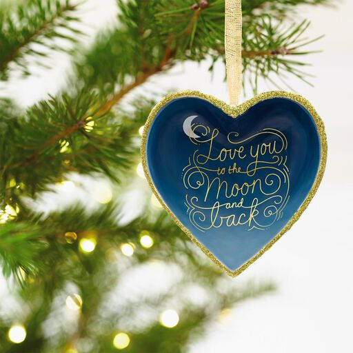 ... Signature Premium Love You to the Moon and Back Porcelain Hallmark  Ornament, - Christmas Ornaments Christmas Tree Ornaments Hallmark