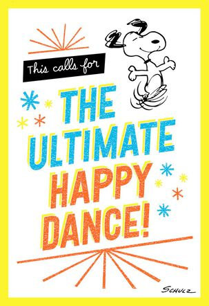 Peanuts® Snoopy Happy Dance Congratulations Card