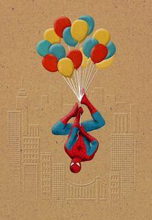 Spider-Man™ Balloons Birthday Card,