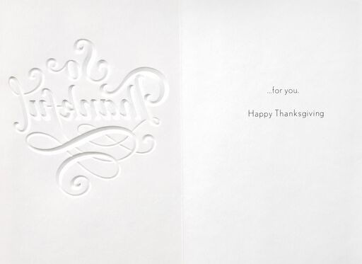 Thankful for You Thanksgiving Card,