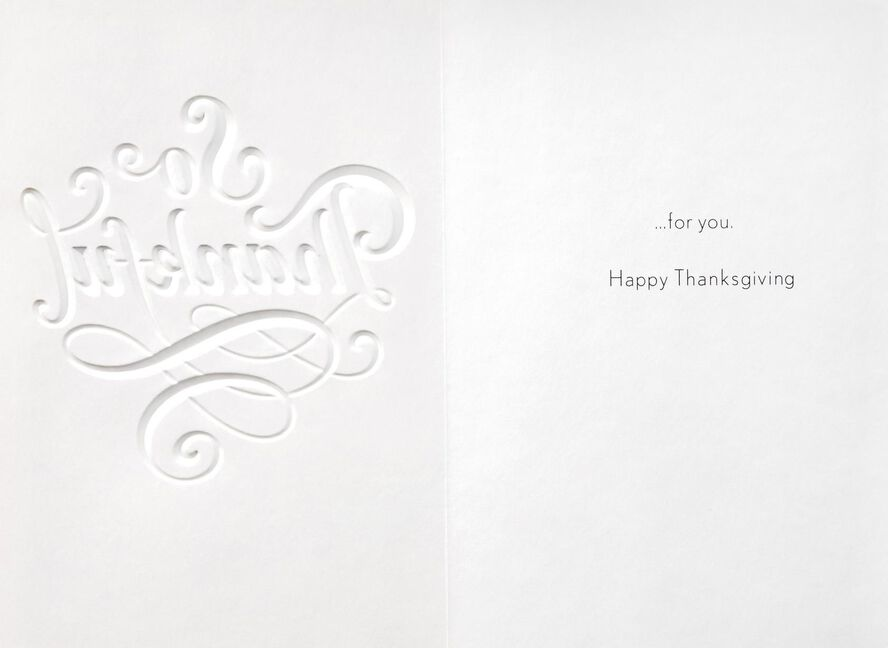 thankful for you thanksgiving card greeting cards hallmark