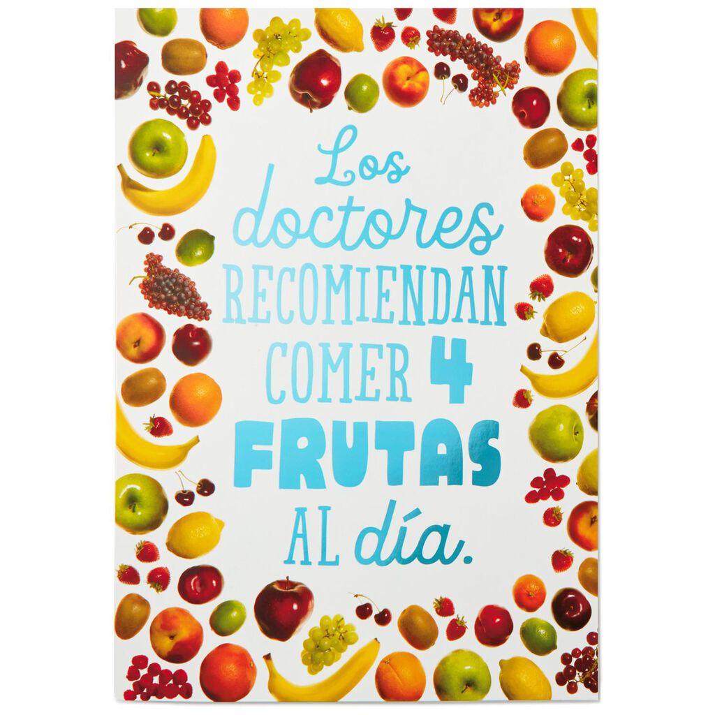 Drink Up Jumbo Spanish Language Birthday Card