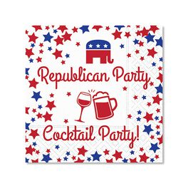 Republican Party Cocktail Napkins, Pack of 12, , large