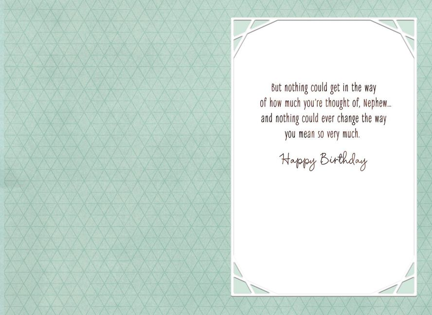 Thinking Of You Birthday Card For Nephew